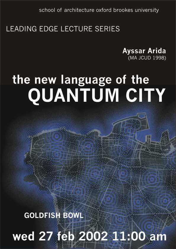 OBU Quantum City Lecture Poster